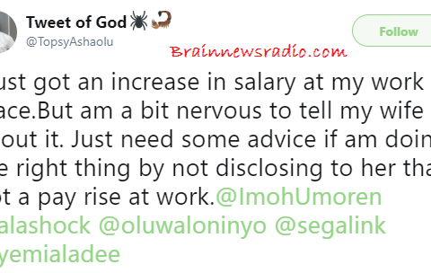 Should I Inform My Wife Of My Salary Increase? Nigerian Man Seeks Advice..