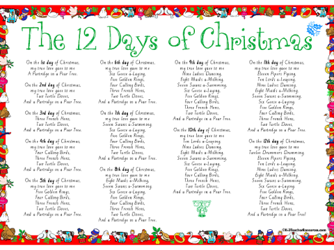 'The Twelve Days of Christmas'