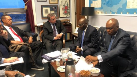 Atiku Abubakar While In America Visits U.S. Congressman Smith