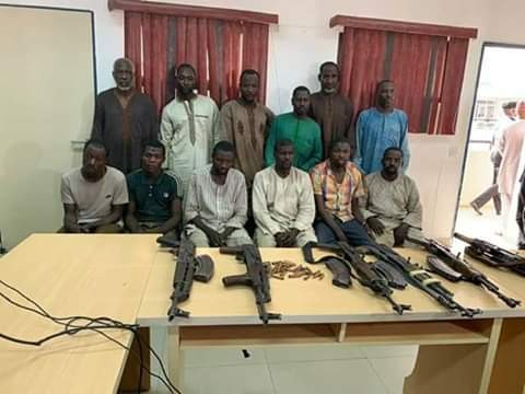 Zamfara - Police Parade 12 Suspected Kidnappers Of Teenage Twin Sisters