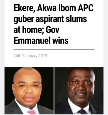 Akwa Ibom Governor, Udom Wins For Atiku, While Nsima Loses