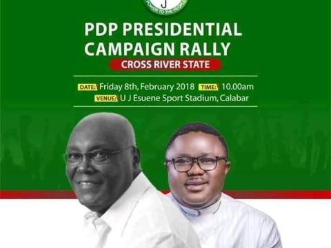 Atiku To Campaign In Cross River On Friday, February 8, 2019