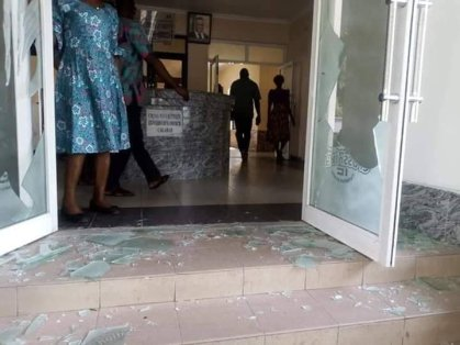 Motorcyclists Storms Calabar Governor's Office With Corpse