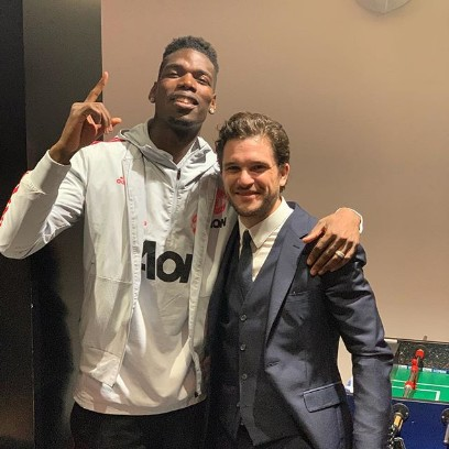 Paul Pogba With Game Of Thrones Star, John Snow