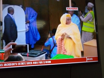 President Buhari, His Wife Cast Their Votes