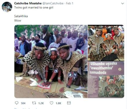 Twins Marry Same Woman In South Africa