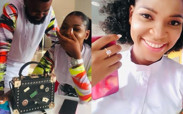 2 Months After Meeting At A Hospital, Nigerian Man Proposes To His Girlfriend