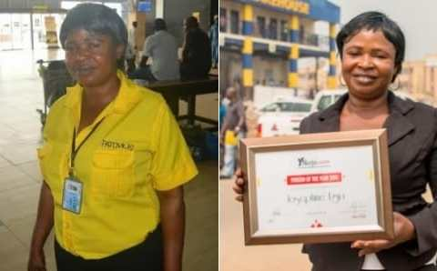 After Airport Cleaner Lamented After Returning Misplaced Millions, Nigerians Donate Over N1.4m To Her