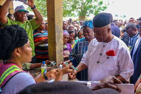 Godswill Obot Akpabio And Wife Vote