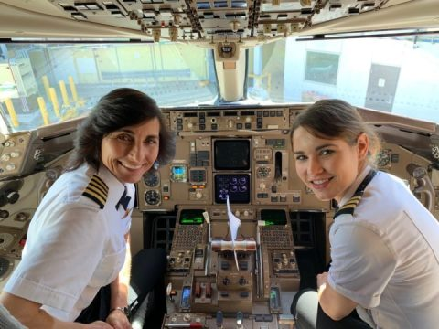 Viral Photo Of Mother And Daughter Flight Crew