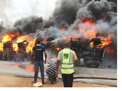 2 Unidentified Persons Burnt To Death In Petrol Fire Tanker Accident In Oyo State