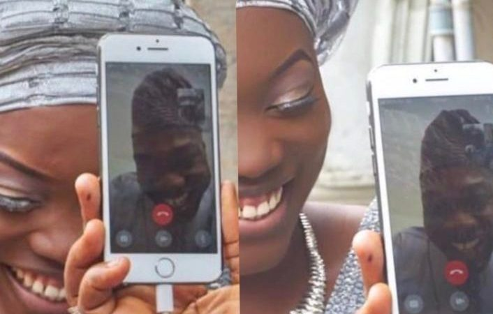Lady Weds Her U.S. Based Fiancée Via Video Call