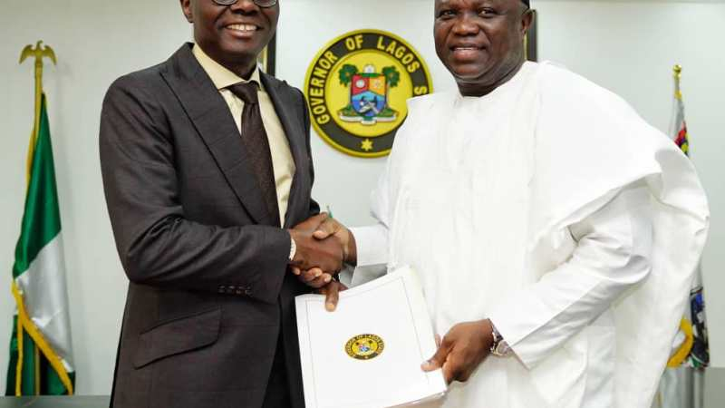 Ambode Hands Over To Sanwo-Olu