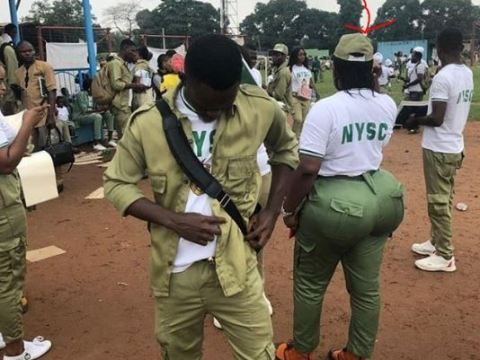See Photo As Curvy Corper With Big Backside Goes Viral