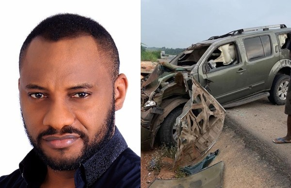 Yul Edochie Involved In A Ghastly Motor Accident, Survives It