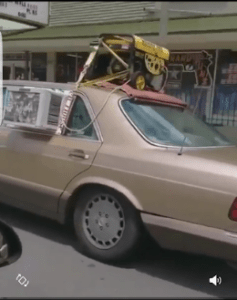 African Man Add External Generator And Air Conditioner To His Car (Photos)