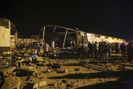 Airstrike Kills 44 Migrants In A Detention Center In Libya