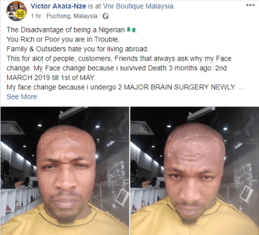 How My Blood Brother Almost Killed Me After I Returned To Nigeria - Malaysia-based Man