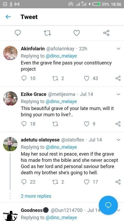 See Senator Dino Melaye Mother's Grave