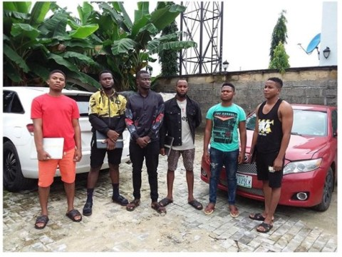 EFCC Arrests Six Yahoo Boys In Akwa Ibom