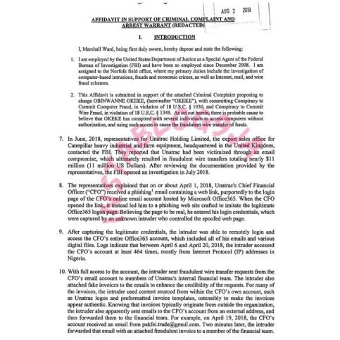 Full Details Of How Wire Fraud Suspect, Obinwanne Okeke Aka Invictus Obi Was Busted By FBI