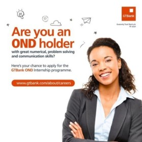 Guaranty Trust Bank (GTB) 2019 Recruitment