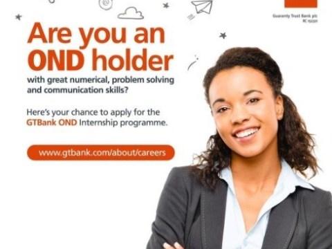 Guaranty Trust Bank (GTB) 2019 Recruitment