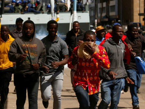 Police, Protesters Clash In Zimbabwe Capital Over Ban On Demonstration