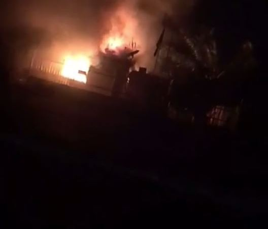 Angry Youths Set MTN Office On Fire In Oyo State