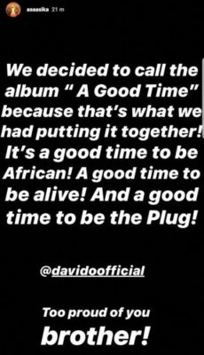Davido Unveils The Title Of His Upcoming Album