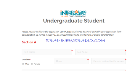 How To Apply For Iniememobong Foundation Scholarship Programme For Akwa Ibom Students