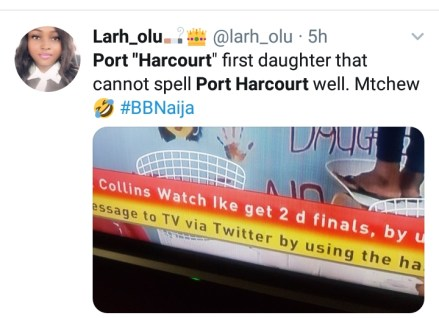 Nigerians Reacts As Tacha Spells Port Harcourt & Daughter Wrongly