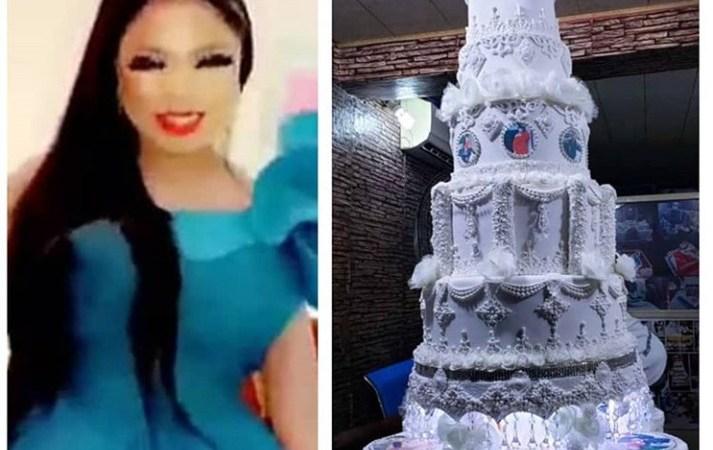 See Photo Of Bobrisky's Giant 28th Birthday Cake