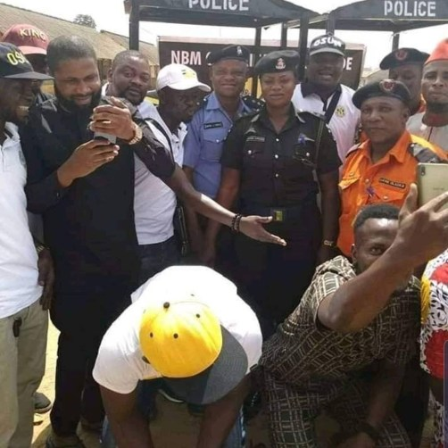 Black Axe Cultists Donate Iron Shelter To Traffic Police