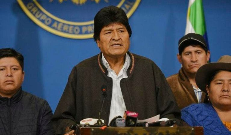 Bolivian President, Evo Morales Resigns After Weeks Of Protests