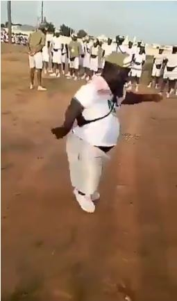 Dwarf Corper Leads Parade, As He Shock Other Corpers