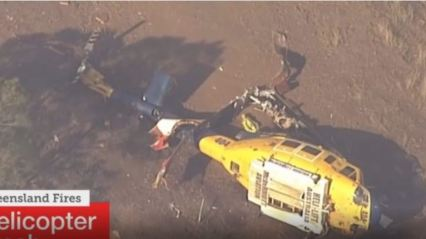 Water-bombing Helicopter Crashes During Australia Bushfire Operation