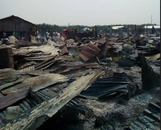 More Than 5,000 Loses Home As Fire Guts A Fishing Community In Akwa Ibom
