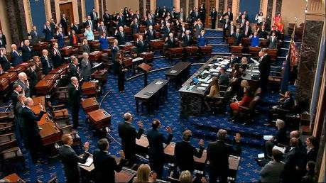 US Senators Play Video Games, Sleep During Trump Impeachment Hearing
