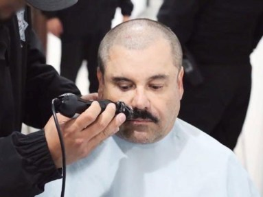 Mexican Drug Lord El Chapo Caught On Video Receiving Haircut Inside High Security Prison
