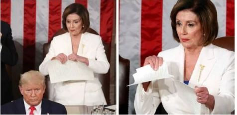 Nancy Pelosi Ripped Off President Trump Speech Right Behind Him