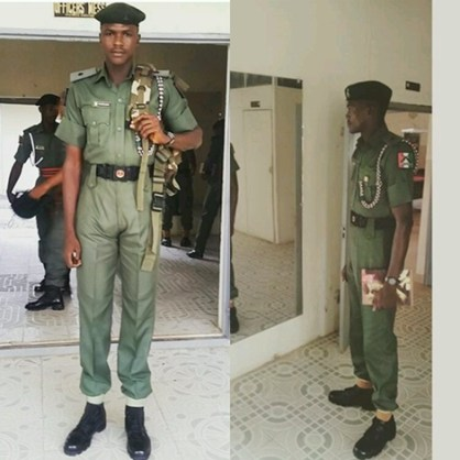 Photos Of The Tallest Nigerian Soldier