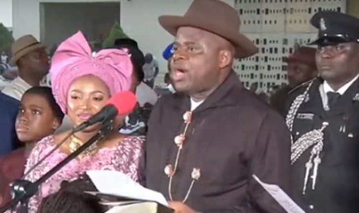 See The Moment Douye Diri Was Sworn As Bayelsa Governor