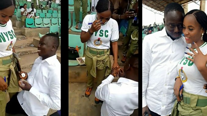 Female NYSC Member Engaged On Her POP