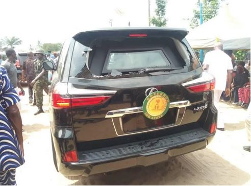 Governor Uzodinma Attacked In Imo, Car Damaged