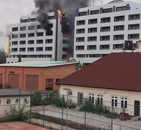 Fire Gut The Office Of The Accountant General Of The Federation In Abuja