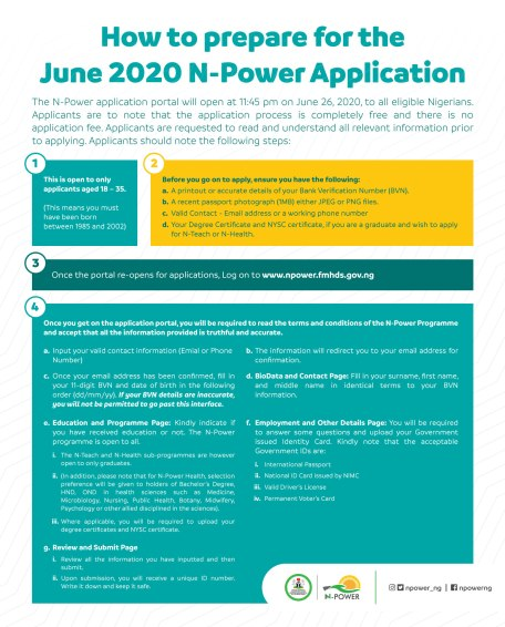 Full Guide On How To Register For 2020 N-Power Application, Website To Use