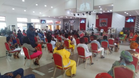 How Social Distancing Was Observe In A Church In Akwa Ibom