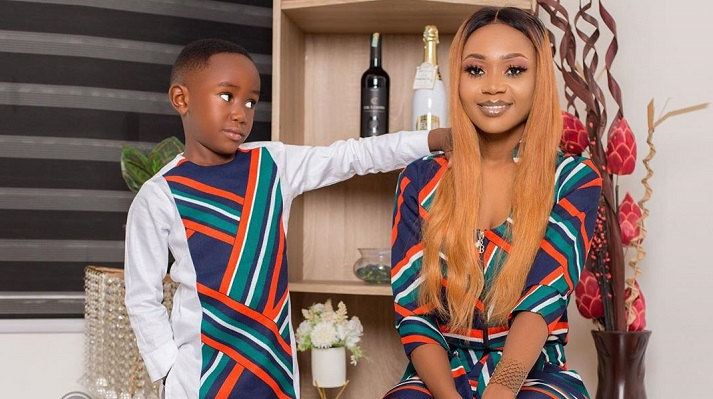 Akupem Poloo Goes Naked In Front Of Her Son To Wish Him A Happy Birthday