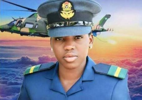 Watch The Moment Flight Officer Tolulope Arotile Was Laid To Rest